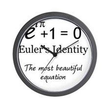 Beautiful Eulers Identity Wall Clock
