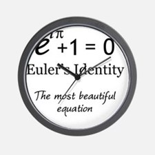 Beautiful Eulers Identity Wall Clock
