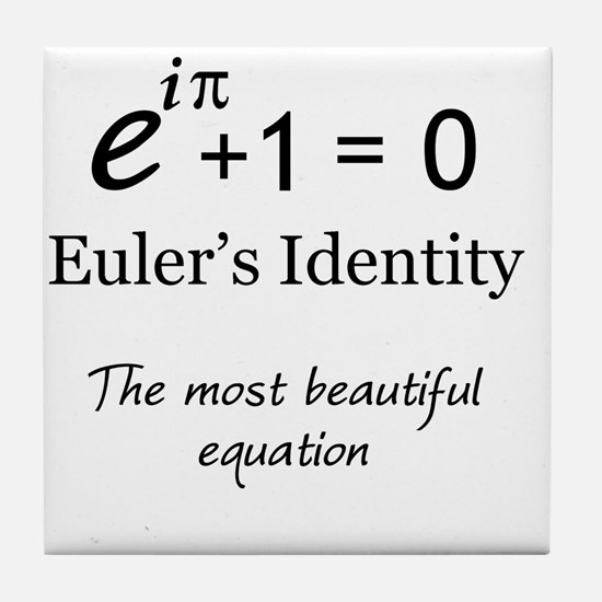 Beautiful Eulers Identity Tile Coaster