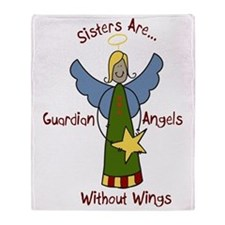 Sister Angel Throw Blanket