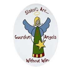 Sister Angel Oval Ornament