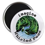 "Imagine Whirled Peas 2.25"" Magnet (10 pack)"