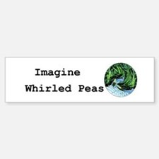 Imagine Whirled Peas Car Car Sticker