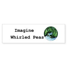 Imagine Whirled Peas Car Sticker