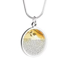 The Desiderata Poem by Max E Silver Round Necklace