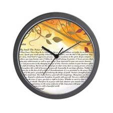 The Desiderata Poem by Max Ehrmann Wall Clock
