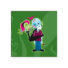 "Zombie Valentine Square Sticker 3"" x 3"""