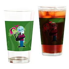 Zombie Valentine Drinking Glass