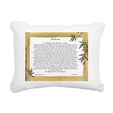 The Desiderata Poem by M Rectangular Canvas Pillow