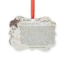 The Desiderata Poem by Max Ehrman Ornament