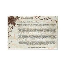 The Desiderata Poem by Max Ehrman Rectangle Magnet