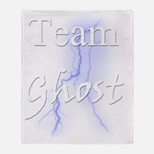Team Ghost for Dark Shirt Throw Blanket