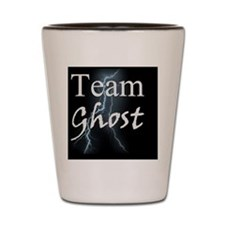 Team Ghost on Black Background Shot Glass