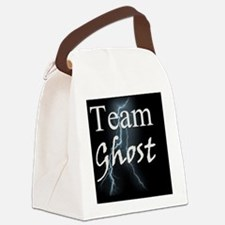 Team Ghost on Black Background Canvas Lunch Bag