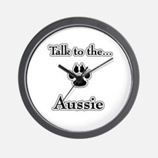 Aussie Talk Wall Clock