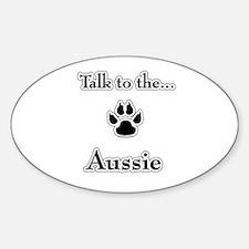 Aussie Talk Oval Decal