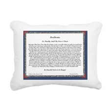 The Desiderata Poem by M Rectangular Canvas Pillow
