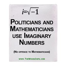 Politicians and Imaginary Numbers Throw Blanket