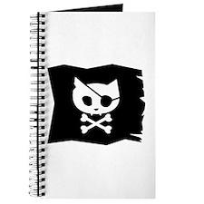 Pirate Kitty Jolly Roger Flag Journal
