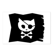 Pirate Kitty Jolly Roger Flag Postcards (8 Pack)