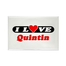 I Love Quintin Rectangle Magnet