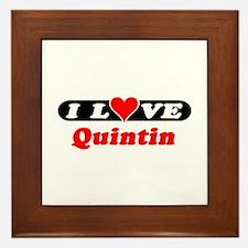 I Love Quintin Framed Tile