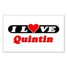 I Love Quintin Rectangle Decal