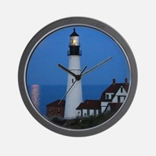 Super Moons Lighthouse View Wall Clock