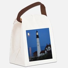 Super Moons Lighthouse View Canvas Lunch Bag