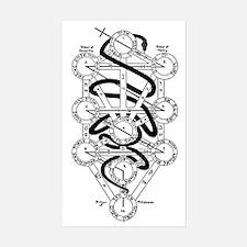Serpent of Wisdom Sticker (Rectangle)