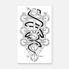 Serpent of Wisdom Rectangle Car Magnet