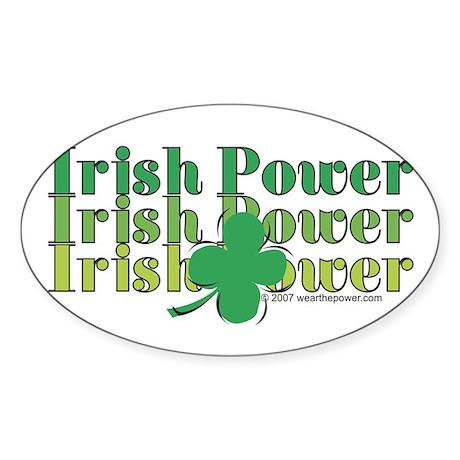 Irish Power Oval Sticker