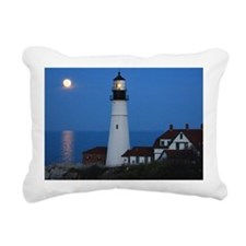 Super Moons Lighthouse V Rectangular Canvas Pillow