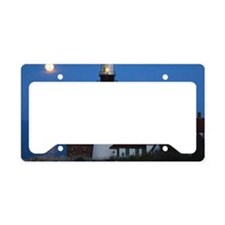 Super Moons Lighthouse View License Plate Holder