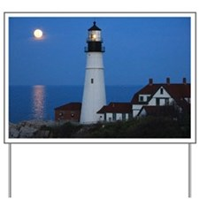 Super Moons Lighthouse View Yard Sign