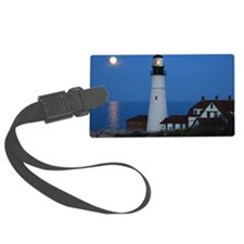 Super Moons Lighthouse View Luggage Tag