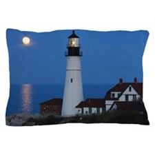 Super Moons Lighthouse View Pillow Case