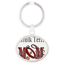Norfolk Terrier Mom Oval Keychain
