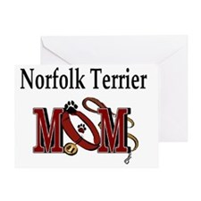 Norfolk Terrier Mom Greeting Card