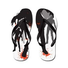 A Crowd of Zombies Flip Flops