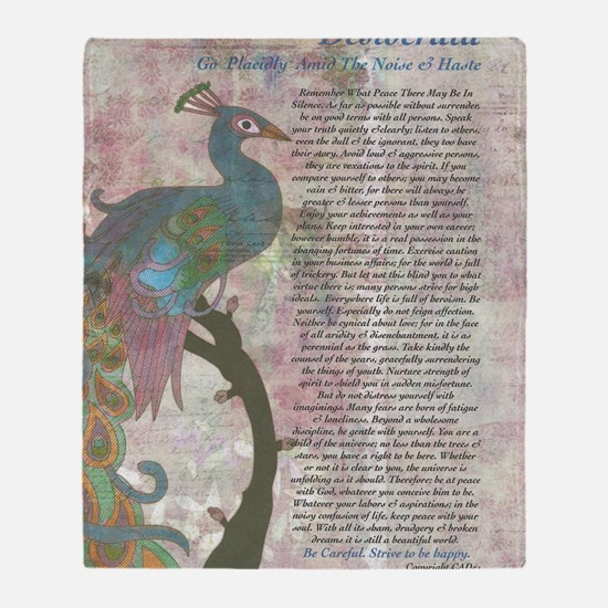 The Desiderata Poem by Max Ehrmann Throw Blanket