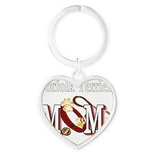 Norfolk Terrier Mom Heart Keychain