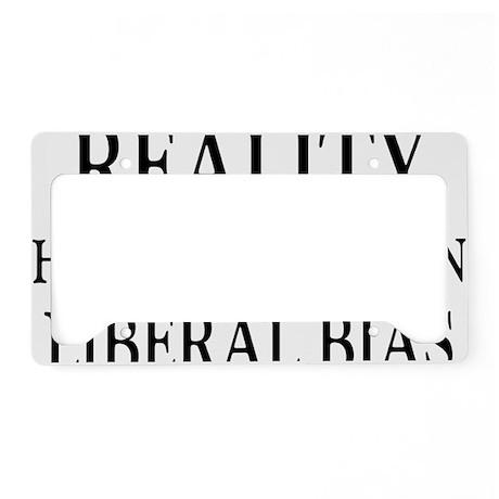 liberalbiasrectangle License Plate Holder