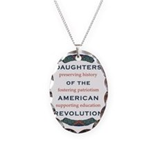 DAR 1917 wreath and objectives Necklace Oval Charm
