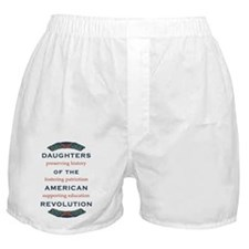 DAR 1917 wreath and objectives Boxer Shorts
