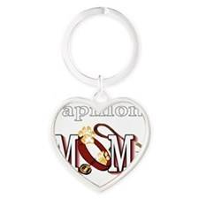 Papillon Mom Heart Keychain