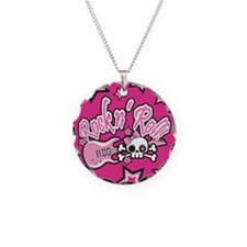 Girly Rock n Roll Skull Necklace