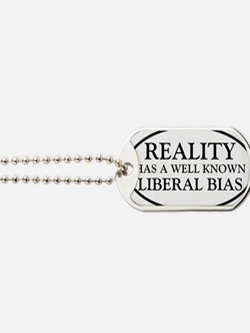 liberalbiasoval Dog Tags