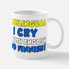 bilingual cry english and finnish Mug