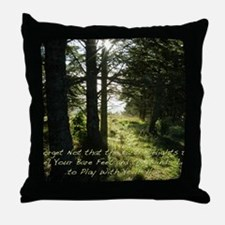 The Earth Delights in You Throw Pillow